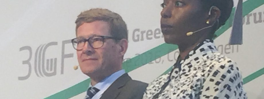 Dr Jadesimi panellist at Global Green Growth Forum in Copenhagen