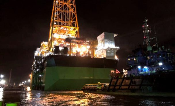 Egina FPSO Sails Away