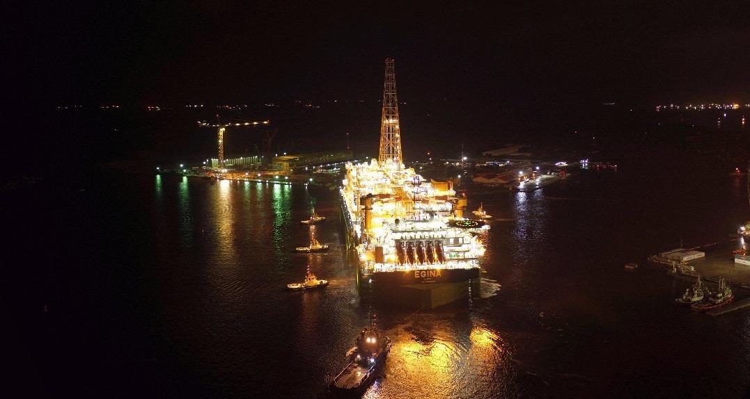 Egina FPSO Sails Away | LADOL | Lagos Deep Offshore