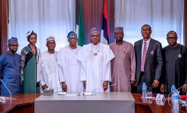 President Buhari receives in audience delegation of LADOL Integrated Logistics Enterprise